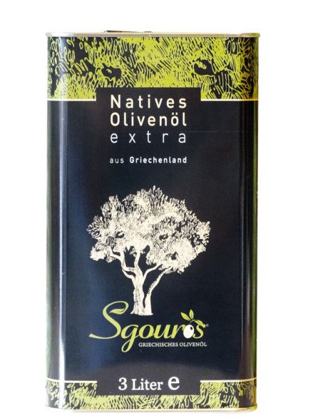 Griechisches natives Olivenöl 3 Liter Kanister aus Korfu