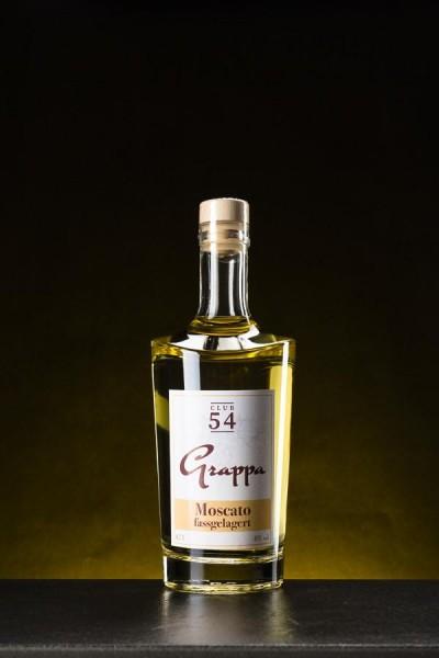 Grappa Moscato fassgelagert - holzfassgelagert 40% Vol.