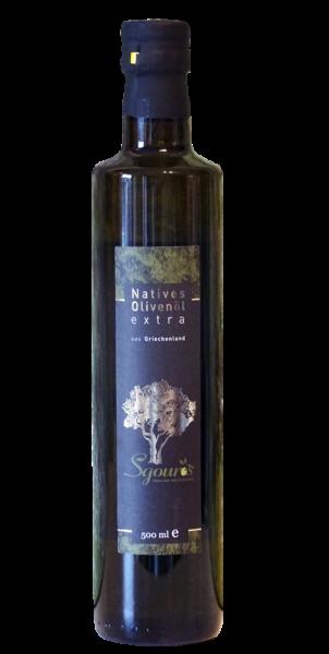 griechisches natives Olivenöl aus Korfu Griechenlnd 500ml Flasche