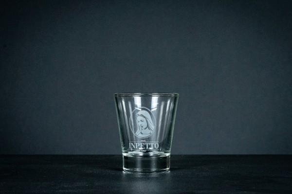 Wasserglas mit INPETTO LOGO