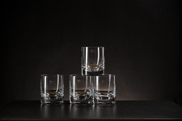 Premium Whiskey Glas - 250ml klar - 4er Set